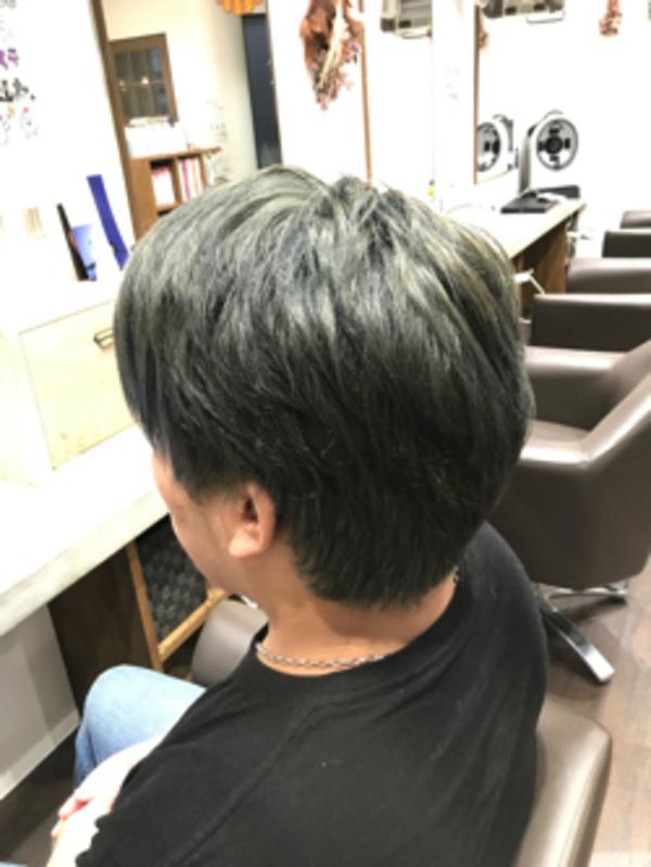 ブリーチからのヘアカラー